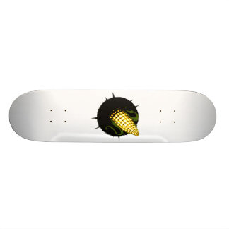 a corncob in a hole. skateboards