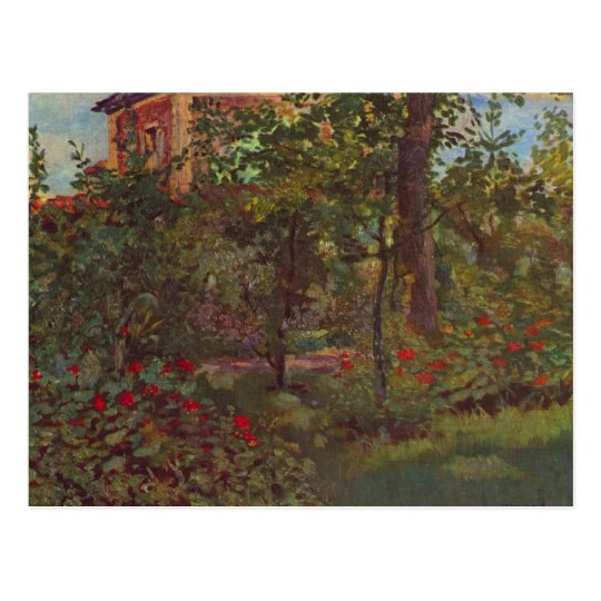 A corner in the garden of Bellevue by Manet Postcard