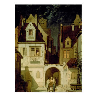 A Corner of a German Town by Moonlight Postcard