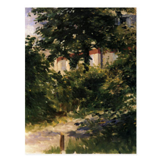 A Corner of the Garden in Rueil by Edouard Manet Postcard