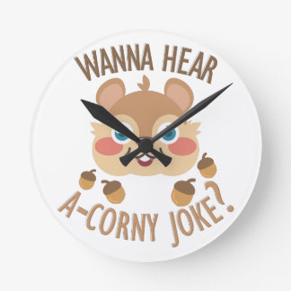 A-Corny Joke Wall Clock