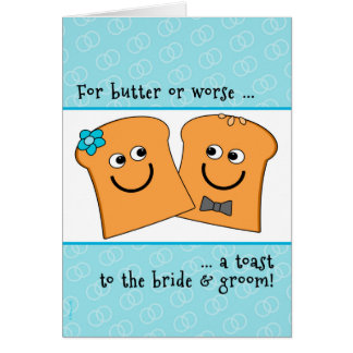 A Corny Toast to Bride and Groom Wedding Congrats Card