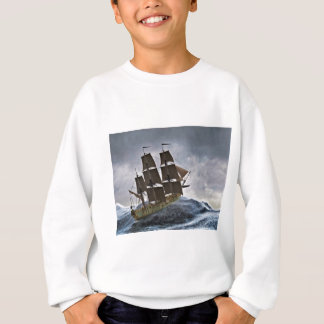 A Corvette Sailing Ship in a Storm Sweatshirt