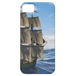 A Corvette Sailing Ship Sailing on a Calm Day iPhone 5 Case