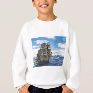 A Corvette Sailing Ship Sailing on a Calm Day Sweatshirt