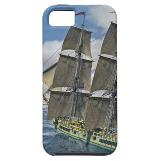 A Corvette ship Running Before the Wind iPhone 5 Case