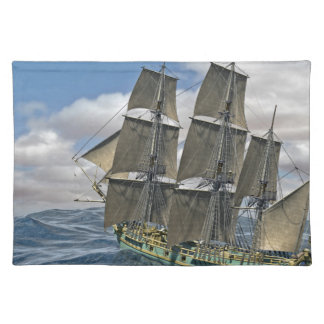 A Corvette ship Running Before the Wind Placemat