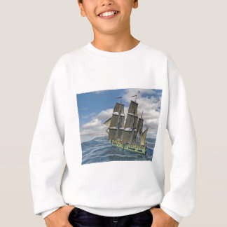 A Corvette ship Running Before the Wind Sweatshirt