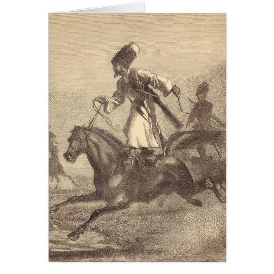 A Cossack Horseman Card