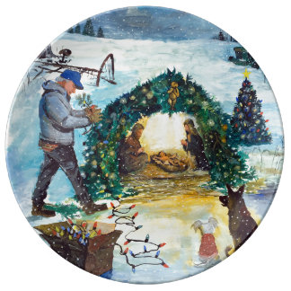 A Country Christmas on the Farm Plate