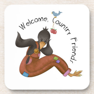 A Country Friends Welcome Coasters