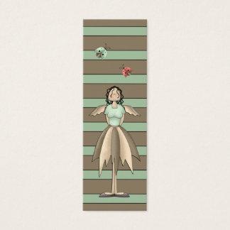 A Country Garden Fairy Bookmark (Teal) Mini Business Card