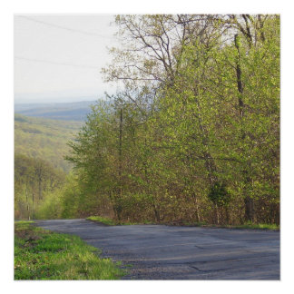 A Country Road in West Virginia Perfect Poster