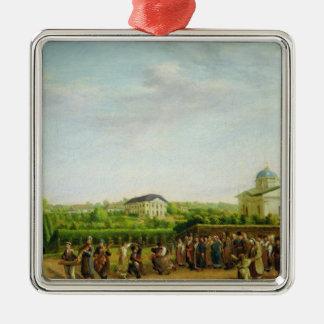 A country wedding Silver-Colored square ornament