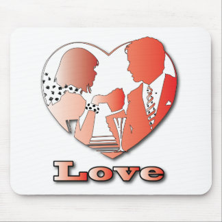 A couple in love mouse pad
