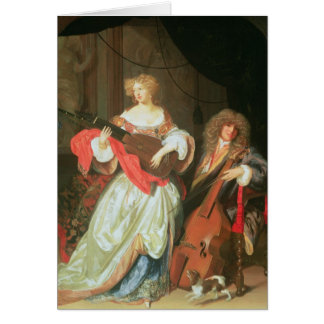 A couple making music card