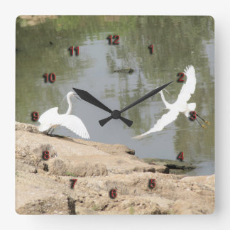 A Couple of The Little Egrets Clock