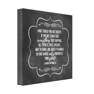 A Course in Miracles Inspirational Quote Canvas