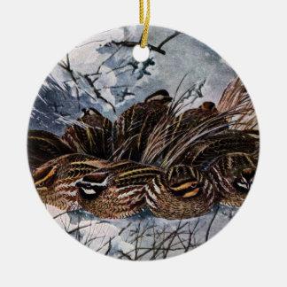 A Covey of Bobwhites Ceramic Ornament
