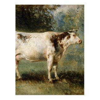 A Cow in a Landscape by Constant Troyon Postcard