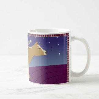 A cow  on a mission multi-colored coffee mug