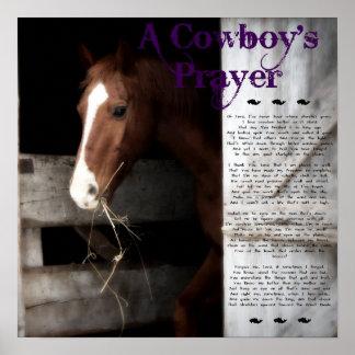 A Cowboy's Prayer Poster