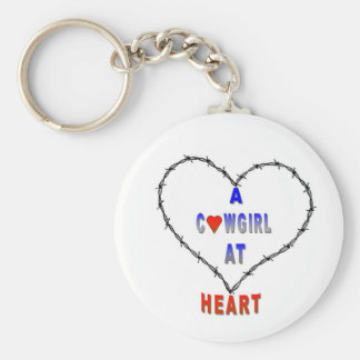 A Cowgirl at Heart Keychain