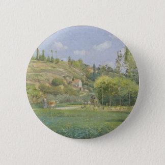 A Cowherd at Valhermeil, Auvers-sur-Oise 2 Inch Round Button