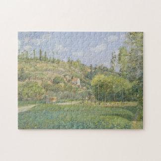 A Cowherd at Valhermeil, Auvers-sur-Oise Jigsaw Puzzle