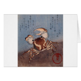 A Crab on the Seashore by Utagawa Kunisada Card