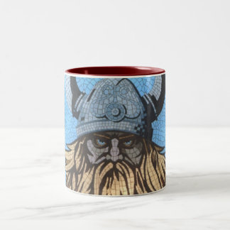 a crazed viking on a mug