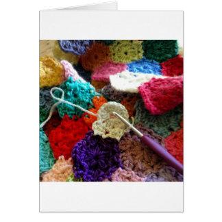 A Crochet Work in Progress - Crochet Hexagons Greeting Card