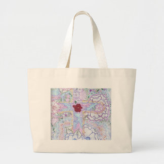 """A Cross"" by JEANNE Large Tote Bag"
