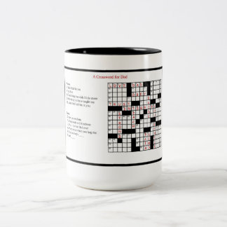 A Crossword for Dad Two-Tone Coffee Mug