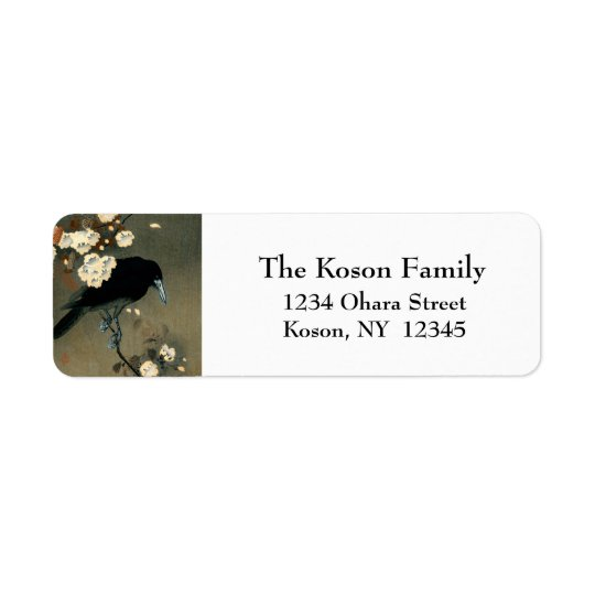 A Crow and Blossom by Ohara Koson Vintage