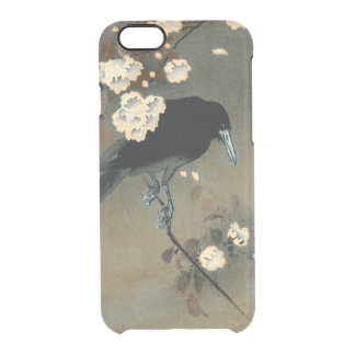 A Crow and Blossom by Ohara Koson Vintage Clear iPhone 6/6S Case