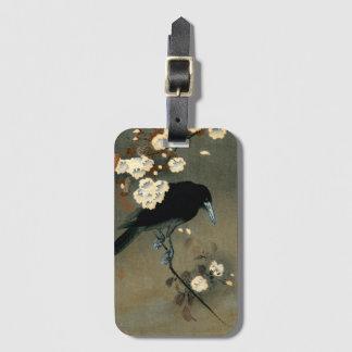 A Crow and Blossom by Ohara Koson Vintage Luggage Tag