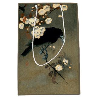A Crow and Blossom by Ohara Koson Vintage Medium Gift Bag