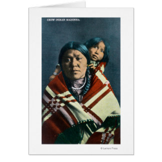 A Crow Indian Madonna and Child Card