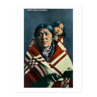 A Crow Indian Madonna and Child Postcard