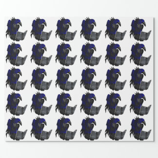 A Crow's Story Gothic Folk Art Wrapping Paper