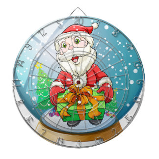 A crystal ball with Santa Claus inside Dart Boards