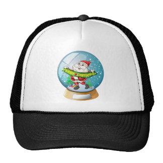 A crystal ball with Santa Claus inside Trucker Hat