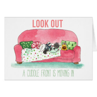 A Cuddle Front Greeting Card