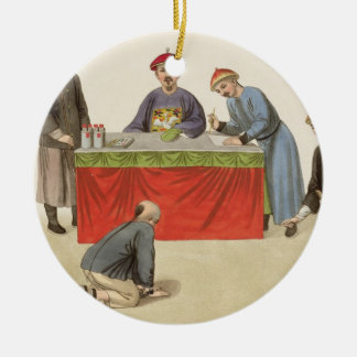 A Culprit before a Magistrate, plate 1 from 'The P Round Ceramic Ornament
