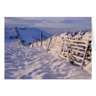 A Cumbrian winter landscape Card