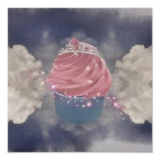 A cup cake princes invite