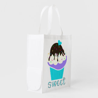 A Cup Full of Sweetness Reusable Grocery Bag