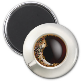 A Cup of Black Coffee 2 Inch Round Magnet