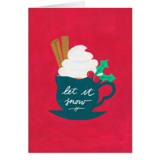A Cup of Let It Snow Card
